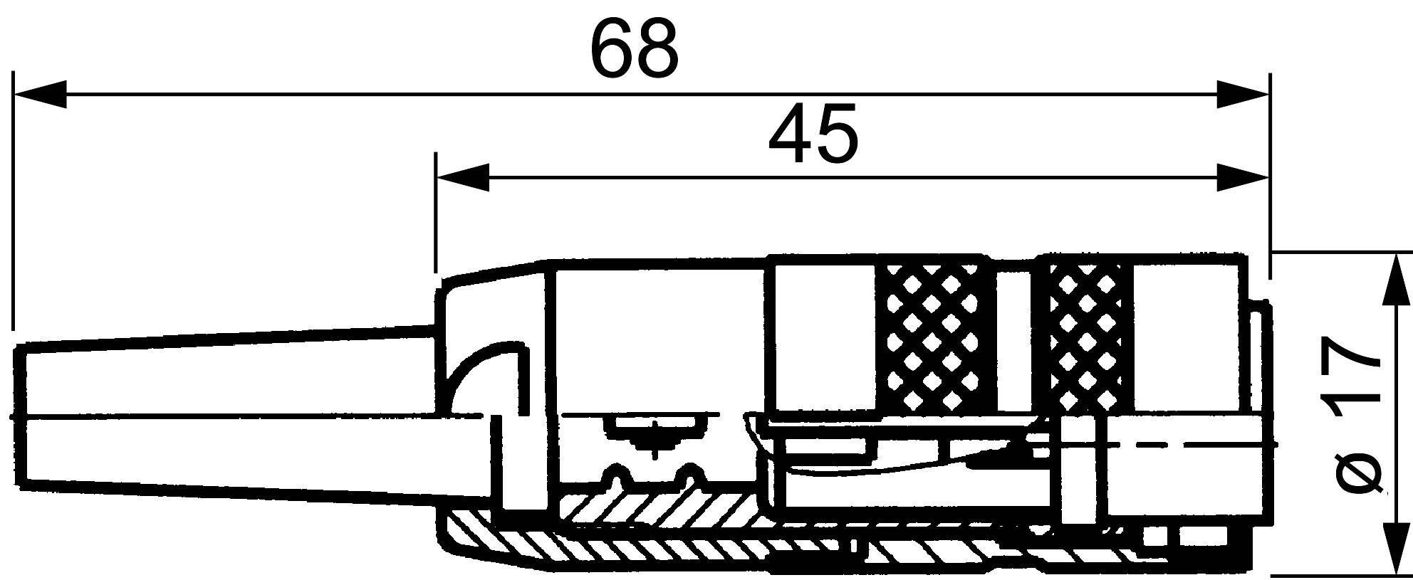 Kabelová zásuvka rovná 5 pólov, 250 V, 5 A