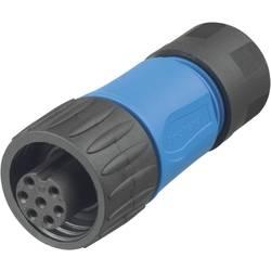 Kabelová zásuvka 6+PE Amphenol C016 30D006 110 10, 250 V, 10 A, černá/modrá
