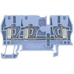 Průchozí svorka řadová Weidmüller ZDU 2.5/3AN BL (1608550000), 5,1 mm, modrá