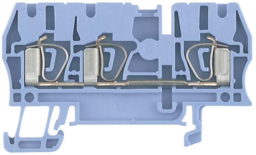 Průchozí svorka řadová Weidmüller ZDU 4/3AN BL (7904190000), 6,1 mm, modrá