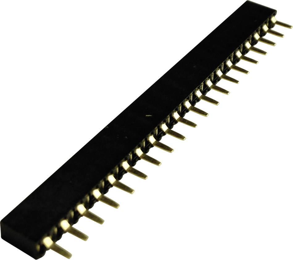Zásuvková lišta (štandardná) 740241, řádky 1, kontakty na řádek 20, 1 ks