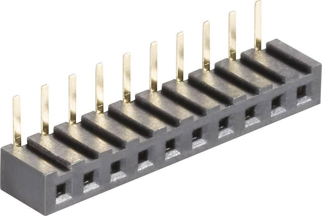 Zásuvková lišta (štandardná) MPE Garry 159-1-006-0-NFX-YS0, řádky 1, kontakty na řádek 6, 1 ks