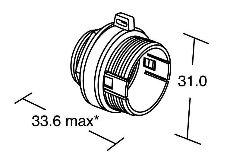 Bulgin PX0804 IP68, 1 ks