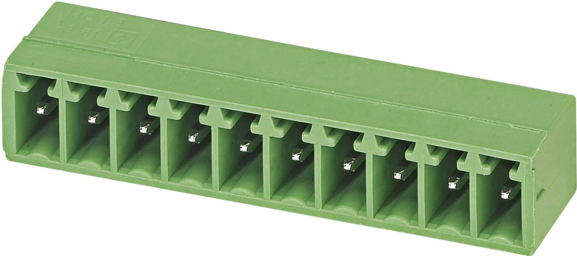 Svorkovnice 1řadá do DPS Phoenix Contact MC 1,5/ 5-G-3,81 (1803303), 5pól., zelená