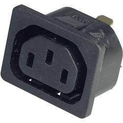 IEC zástrčka C13/C14 Kaiser 796/10/63/sw/C;C13, zásuvka, vstavateľná vertikálna, počet kontaktov: 2 + PE, 10 A, 250 V, čierna, 1 ks