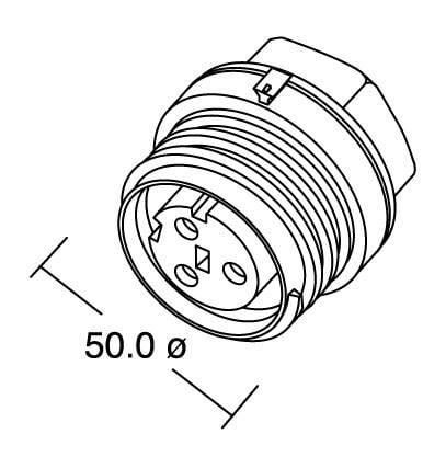 Bulgin PX0931/03/S IP68, polyamid 6.6, pólů + PE, 1 ks