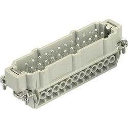 Vložka pinového konektora Harting Han® E 09 33 024 2611, 24 + PE, skrutkovací, 1 ks
