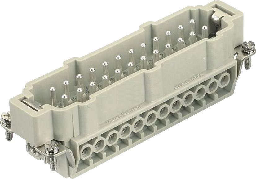 Vložka pinového konektoru Harting Han® E 09 33 024 2611, 24 + PE, šroubovací připojení, 1 ks