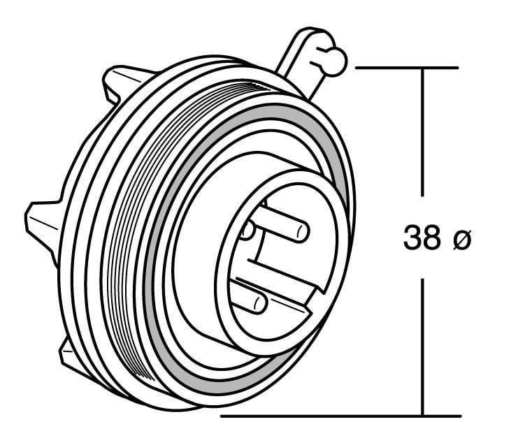 Bulgin PX0735/S IP68, polyamid 6.6, pólů + PE, 1 ks
