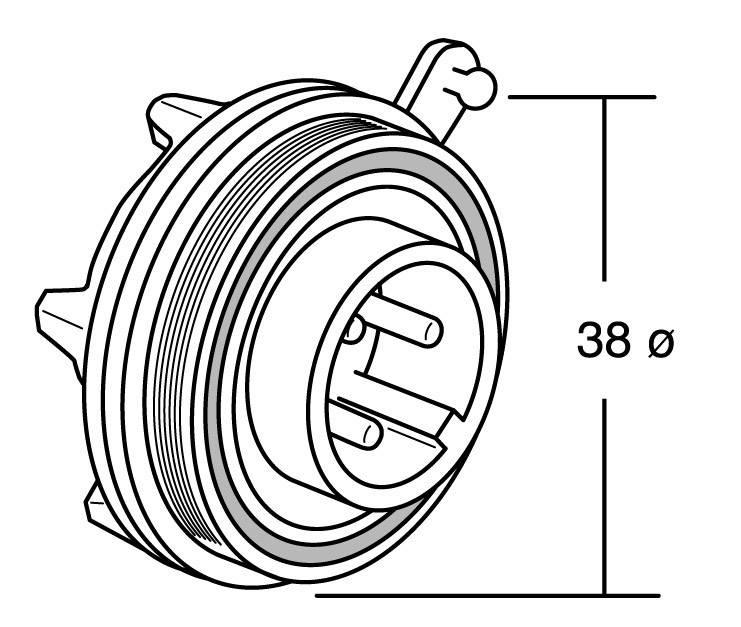 Bulgin PX0738/S IP68, polyamid 6.6, pólů + PE, 1 ks