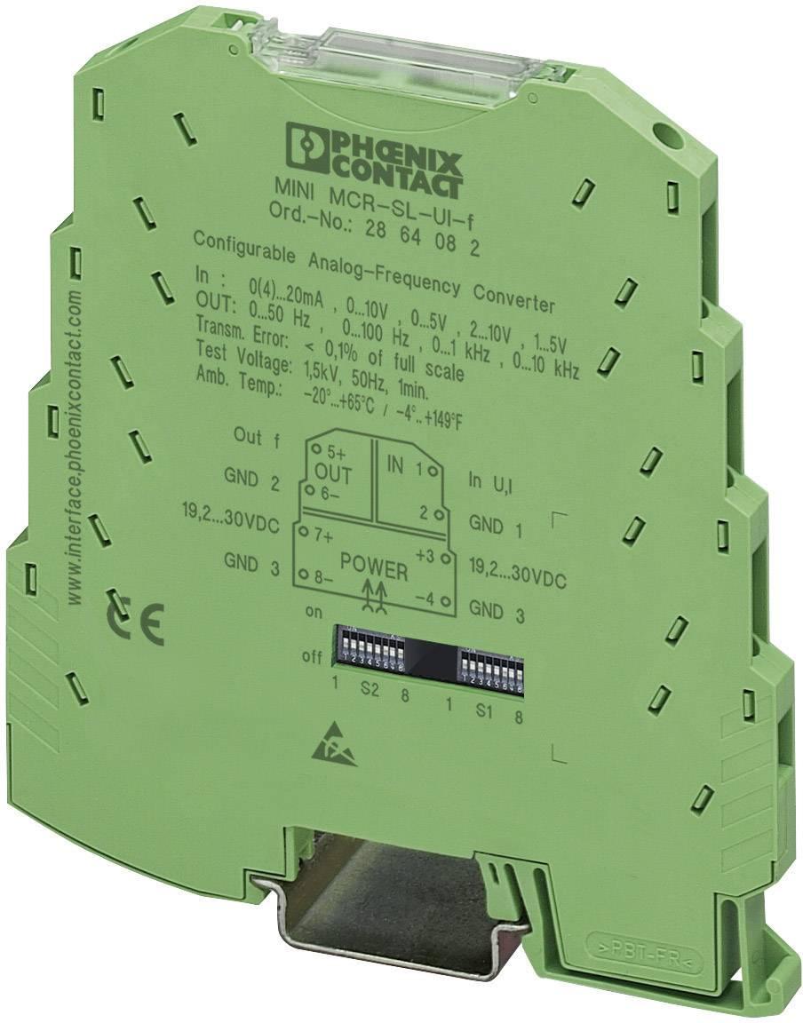 Nastaviteľný analógový menič frekvencie Phoenix Contact MINI MCR-SL-UI-F 2864082 1 ks