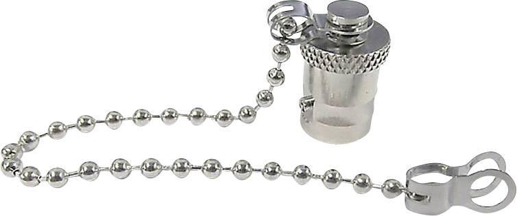 Krytka pro BNC zástrčku s řetízkem, stříbrná