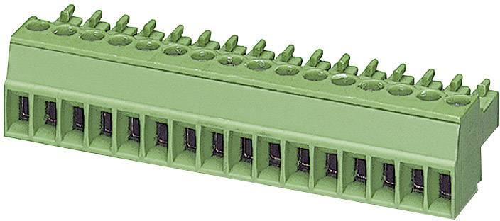 Zásuvkové púzdro na kábel Phoenix Contact MC 1,5/ 3-ST-3,5 1840379, 16.10 mm, pólů 3, rozteč 3.50 mm, 1 ks