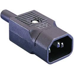 IEC zástrčka C13 / C14 Bulgin PX0686;C14, zástrčka, rovná, počet kontaktov: 2 + PE, 10 A, 250 V, čierna, 1 ks