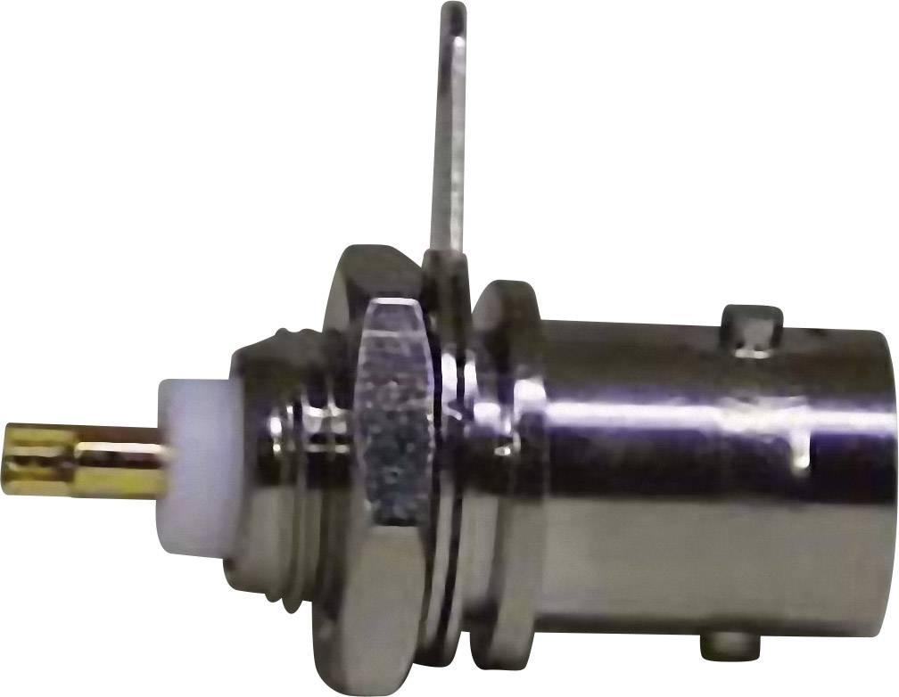 BNC konektor zásuvka, vstavateľná vertikálna 50 Ohm, 1 ks