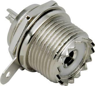 UHF konektor zásuvka, vstavateľná vertikálna BKL Electronic 0406024/D, 50 Ohm, 1 ks