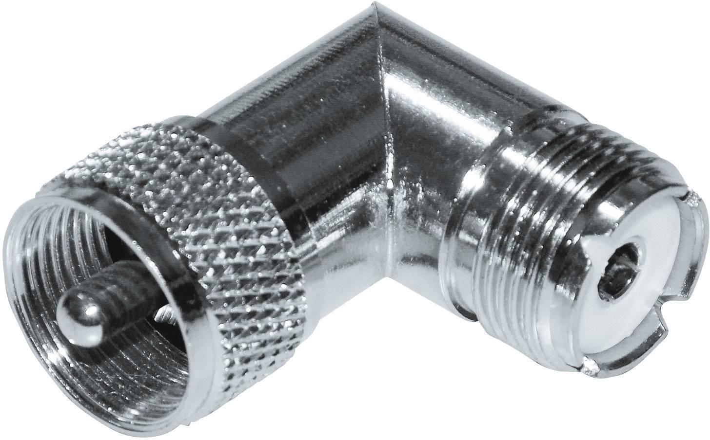 UHF zástrčka / UHF zásuvka, 50 Ω, M 359, adaptér úhlový, Izolace: Delrin, PTFE, DAP