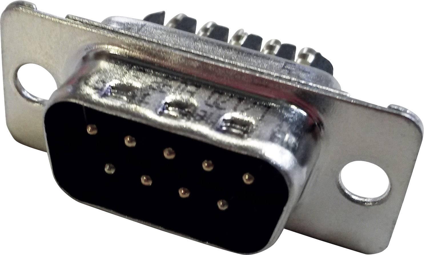 D-SUB kolíková lišta Amphenol 717D E09P ST, 180 °, Počet pinov 9, skrutkovací, 1 ks