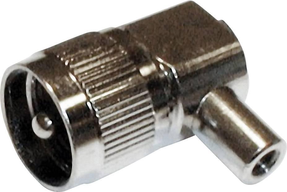 UHF konektor, 50 Ω, Delrin, PTFE, DAP, zástrčka úhlová