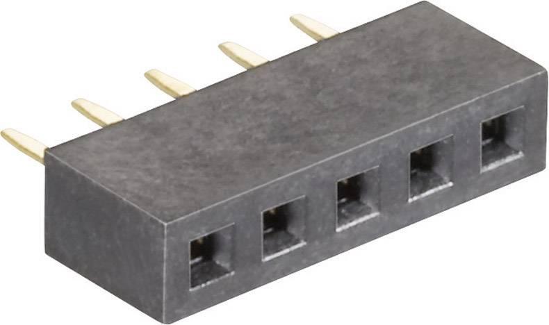 Precizní dutinková lišta MPE Garry 156-1-005-0-NFX-YS0, řádky 1, kontakty na řádek 5, 1 ks
