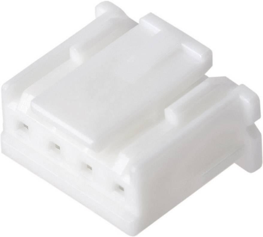 Zásuvkový konektor na kabel JST XAP-04V-1, pólů 4, kontakty v řadě 4, šířka: 6.9 mm, rastr (rozteč) 2.50 mm, 1 ks