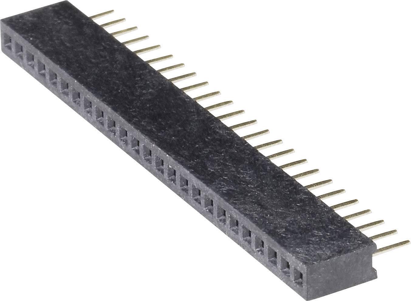 Zásuvková lišta (štandardná) BKL Electronic 10120602, řádky 1, kontakty na řádek 25, 1 ks