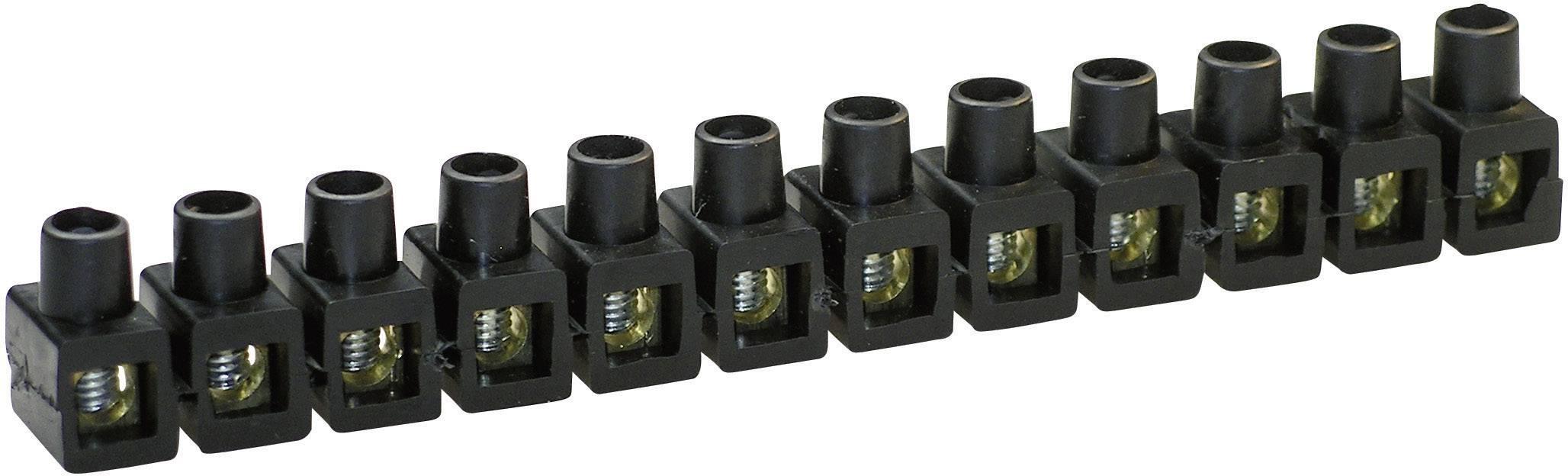 Krabicová svorka Kaiser na kábel s rozmerom 2.5-6 mm², pólů 12, 1 ks, čierna