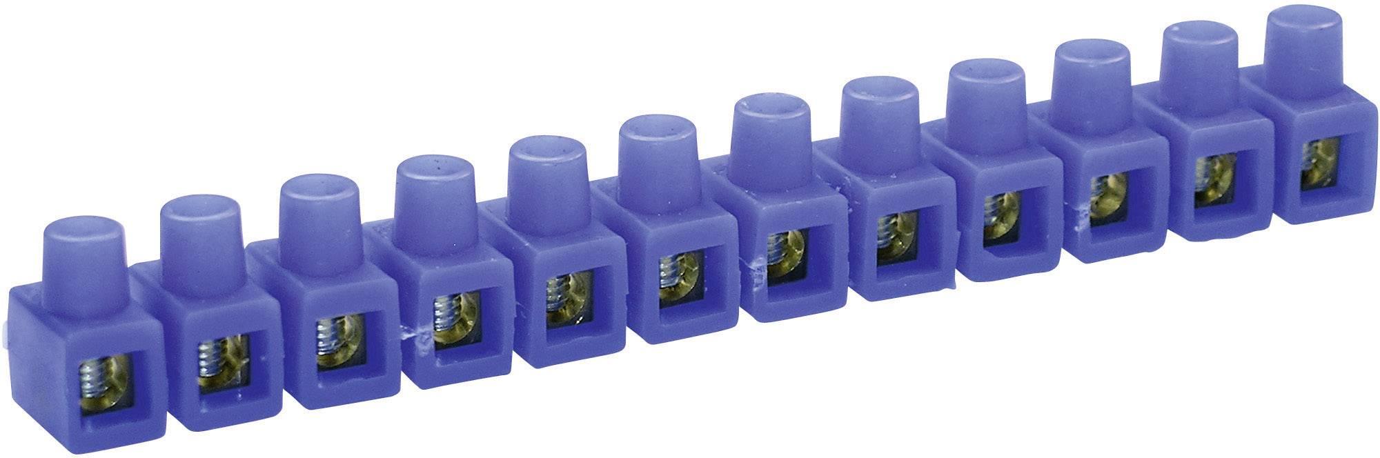 Krabicová svorka Kaiser 663/bl na kábel s rozmerom 2.5-6 mm², tuhosť 2.5-6 mm², počet pinov 12, 1 ks, modrá
