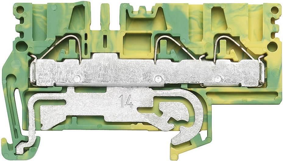 Svorka řadová s ochr. vodičem Weidmüller PPE 2.5/4/3AN (1896200000), 5,1 mm, zelenožlutá