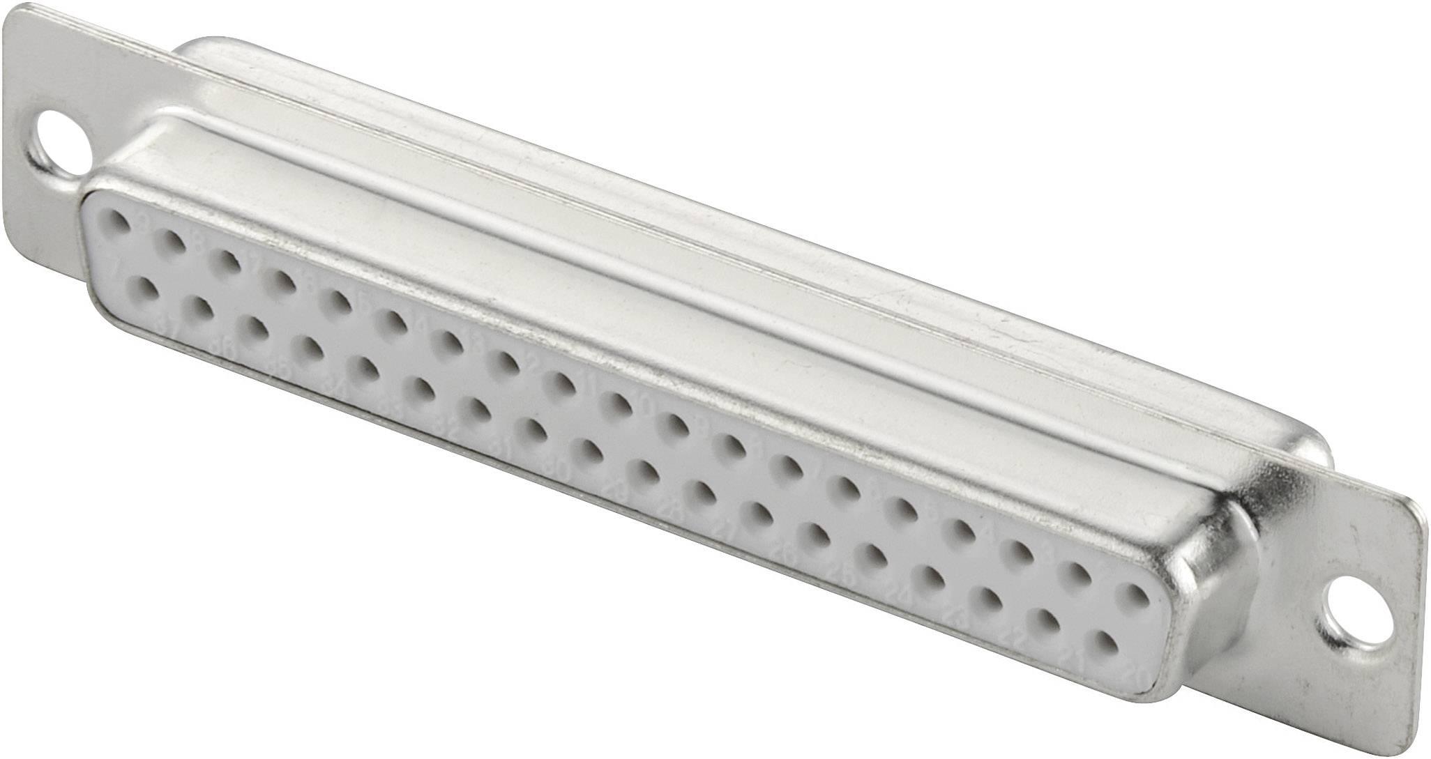 D-SUB zásuvková lišta 180 °, počet pinov 37, spájkovaný, 1 ks