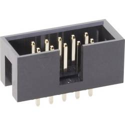 Kolíková lišta BKL Electronic 10120550, raster: 2.54 mm, počet pólov: 6, 1 ks