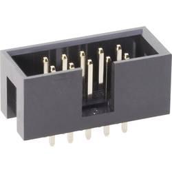 Kolíková lišta BKL Electronic 10120552, raster: 2.54 mm, počet pólov: 8, 1 ks