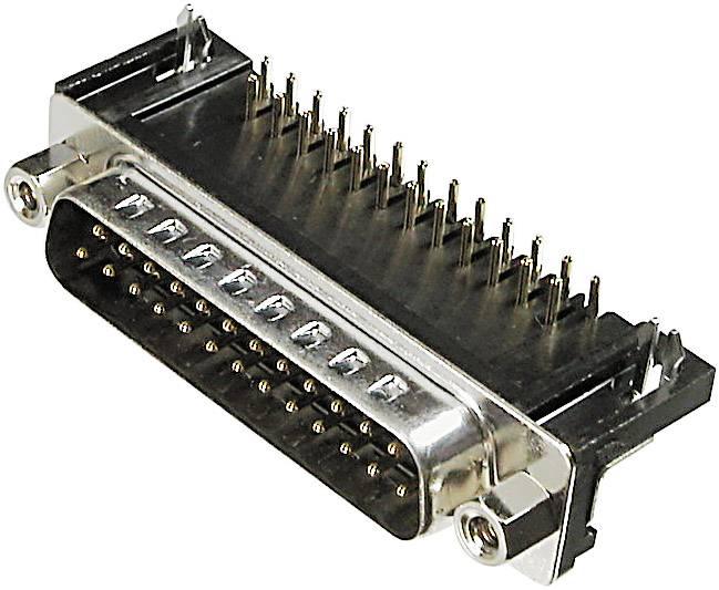D-SUB kolíková lišta ASSMANN WSW A-DS 15 A/KG-T1, 90 °, počet pinov 15, spájkovaný konektor, 1 ks