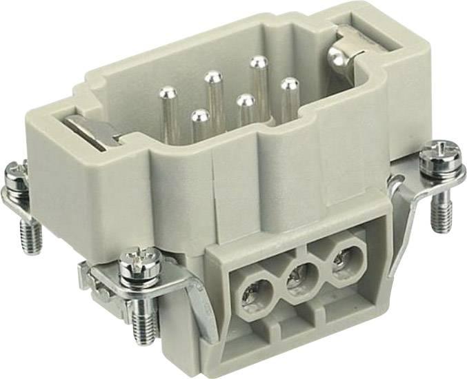 Vložka pinového konektoru Harting Han® E 09 33 006 2601, 6 + PE, šroubovací připojení, 1 ks