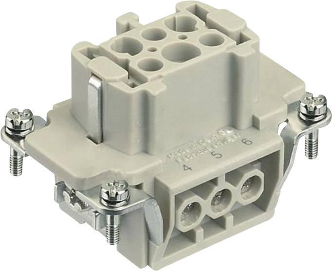 Konektorová vložka, zásuvka Harting Han® E 09 33 006 2701, 6 + PE, šroubovací připojení, 1 ks