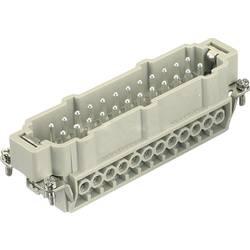 Vložka pinového konektora Harting Han® E 09 33 024 2601, 24 + PE, skrutkovací, 1 ks