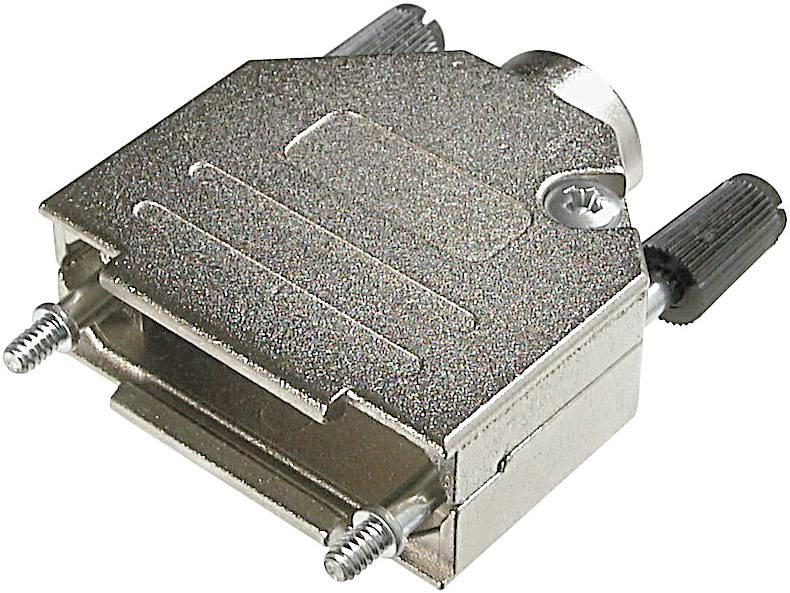 D-SUB púzdro ASSMANN WSW AMET-25 RS AMET-25 RS, počet pinov: 25, kov, 180 °, strieborná, 1 ks