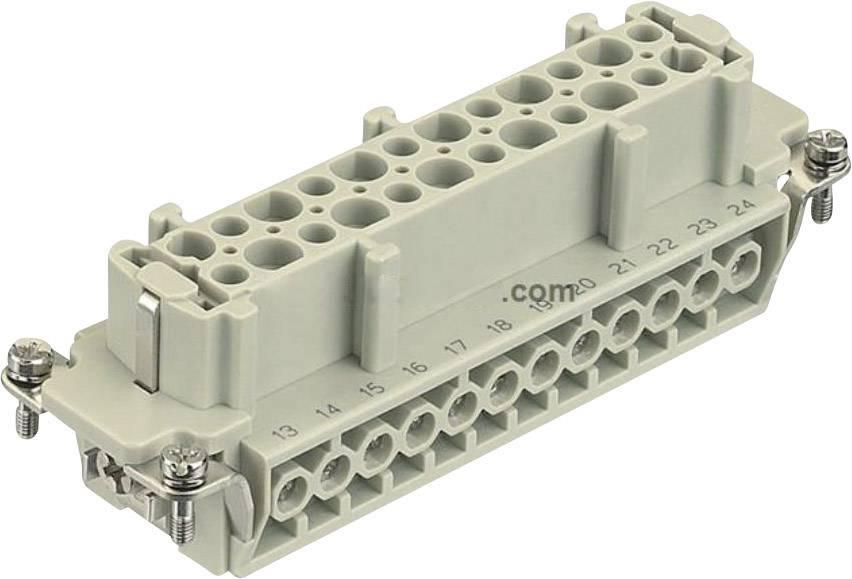 Konektorová vložka, zásuvka Harting Han® E 09 33 024 2701, 24 + PE, šroubovací připojení, 1 ks
