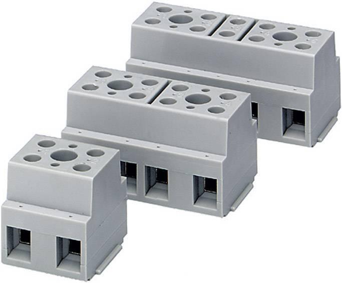 Prístrojová svorkovnica Phoenix Contact G 10/ 4 na kábel s rozmerom -6 mm², pólů 4, 1 ks, sivá