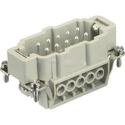 Vložka pinového konektora Harting Han® E 09 33 010 2601, 10 + PE, skrutkovací, 1 ks