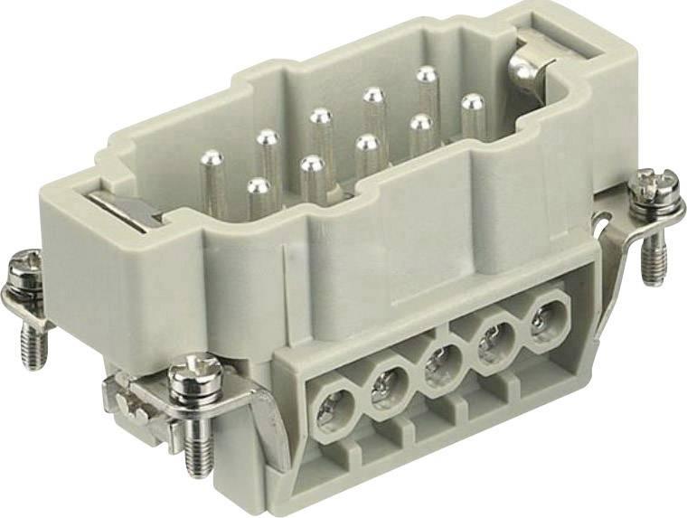 Vložka pinového konektoru Harting Han® E 09 33 010 2601, 10 + PE, šroubovací připojení, 1 ks
