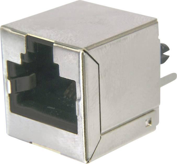 RJ45 konektor zásuvka, vestavná vertikální RJ45 TRU COMPONENTS TC-AMJ-188-10101-CAT6-203, 1 ks
