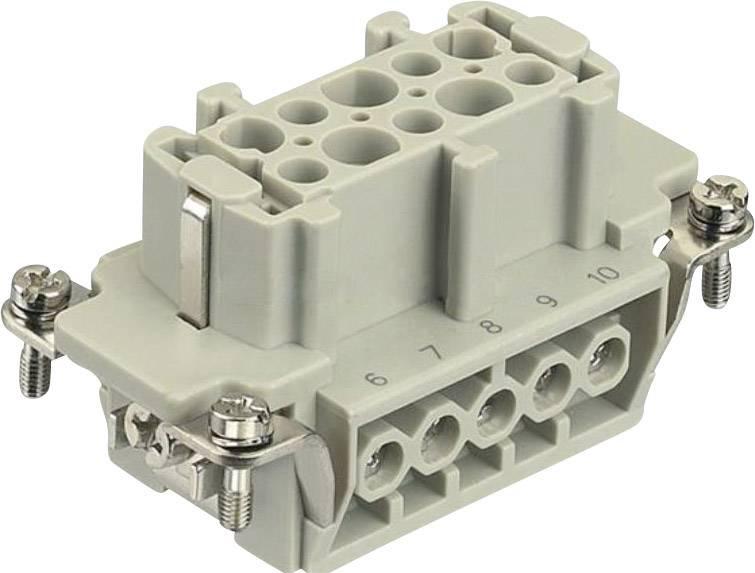 Konektorová vložka, zásuvka Harting Han® E 09 33 010 2701, 10 + PE, šroubovací připojení, 1 ks