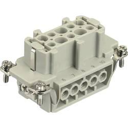 Súprava konektorovej zásuvky Harting Han® E 09 33 010 2701, 10 + PE, skrutkovací, 1 ks