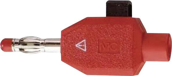 Svorkový banánkový konektor KLS4, červená
