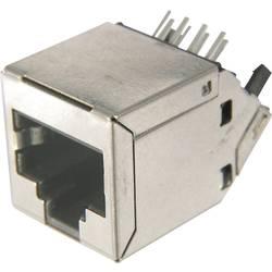 Modulární konektor RJ45 ASSMANN WSW AMJ-188-30101-CAT6, zásuvka vestavná, stříbrná