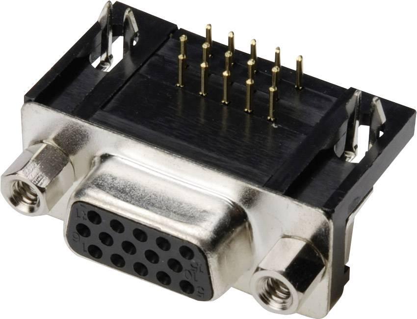 D-SUB zásuvková lišta TRU COMPONENTS TC-A-HDF 44 A-KG/T-203, počet pinov 44, spájkovaný konektor, 1 ks