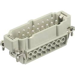 Vložka pinového konektora Harting Han® E 09 33 016 2601, 16 + PE, skrutkovací, 1 ks