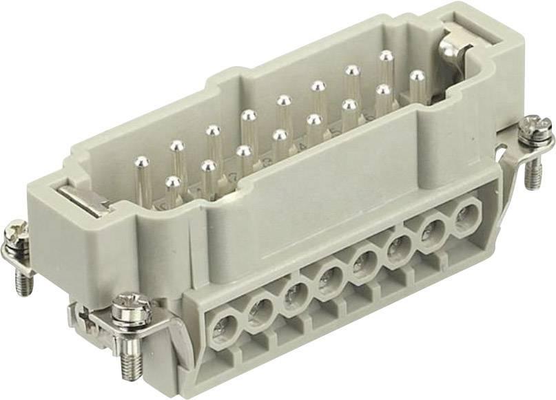 Vložka pinového konektoru Harting Han® E 09 33 016 2601, 16 + PE, šroubovací připojení, 1 ks