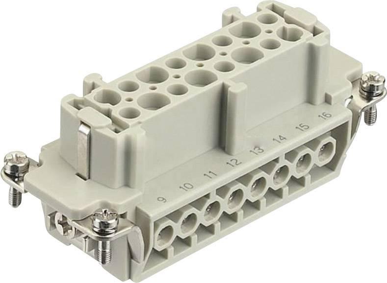 Konektorová vložka, zásuvka Harting Han® E 09 33 016 2701, 16 + PE, šroubovací připojení, 1 ks